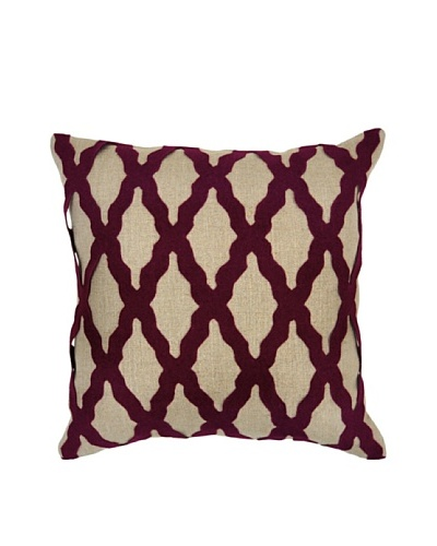 Villa Home Intrigue Pillow, Burgundy