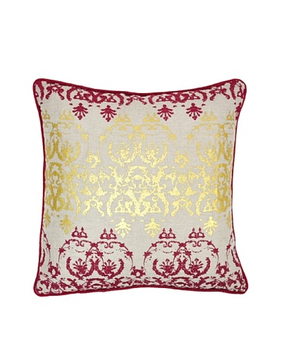 Villa Home Entree Pillow, Burgundy