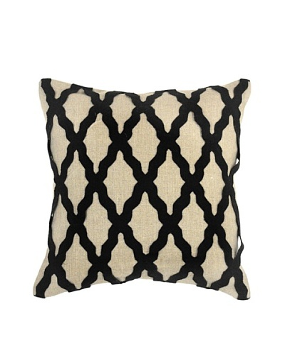 Villa Home Intrigue Pillow, Black