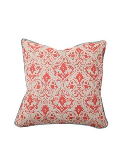 Villa Home Red Gate Pillow, Red/Aqua
