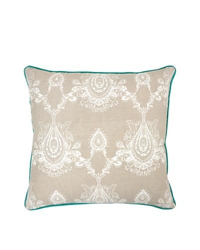 Villa Home Mimi Pillow, Natural/Turquoise