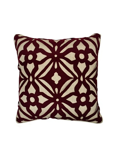 Villa Home Matrix Pillow, Burgundy