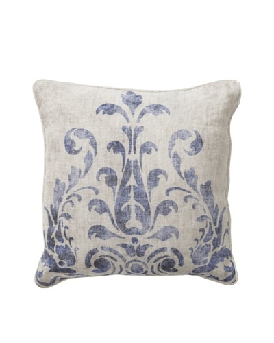 Villa Home Fern Blue Pillow, Blue