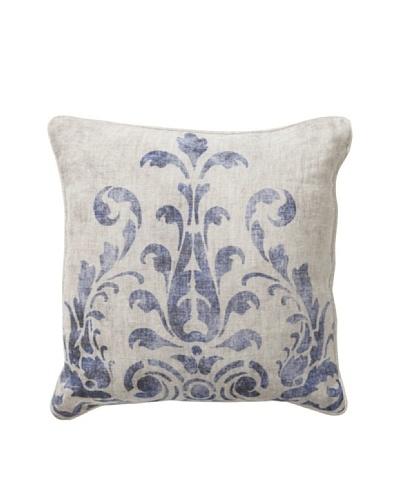 Villa Home Fern Blue Pillow, Blue