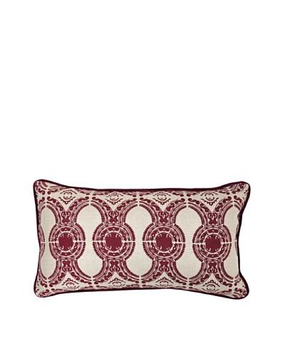 Villa Home Portico Pillow, Burgundy