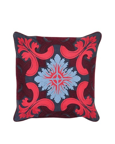 Villa Home Venice Pillow, Navy/Burgundy