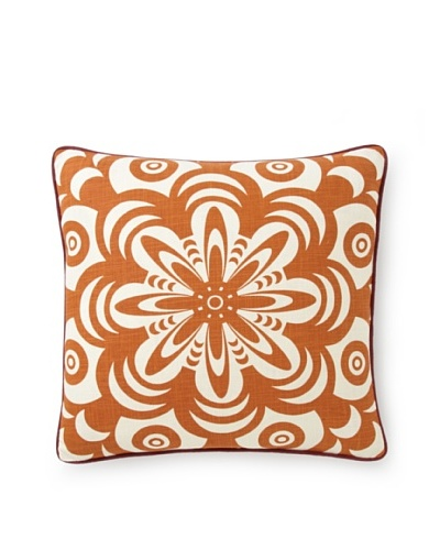 Villa Home Boho Flower Burst Pillow [Orange]