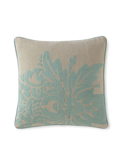 Villa Home Illusion Flora Pillow [Turquoise]