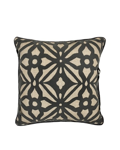 Villa Home Matrix Pillow, Charcoal