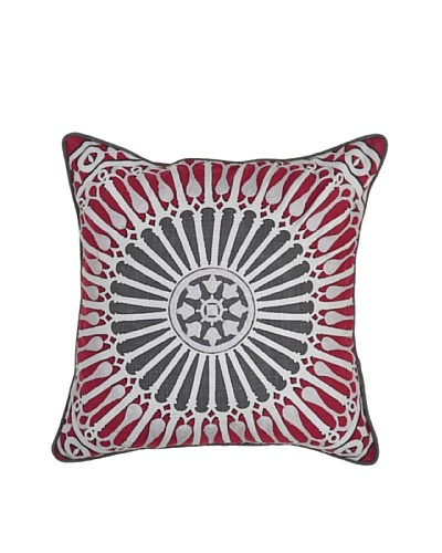 Villa Home Fascination Pillow, Burgundy