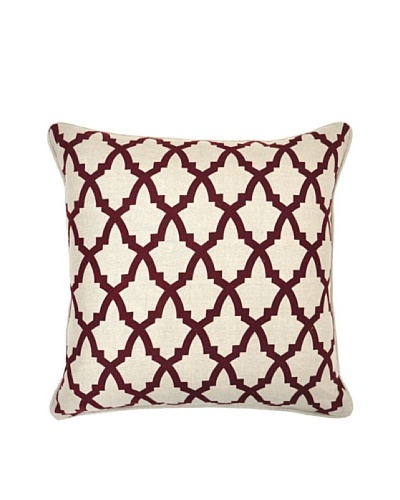 Villa Home Serafina Pillow, Burgundy