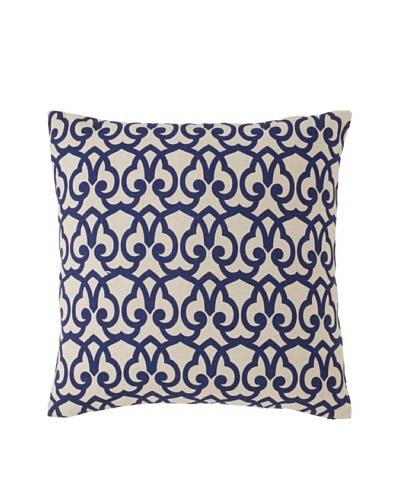 Villa Home London Print Decorative Pillow, Blue 22 x 22