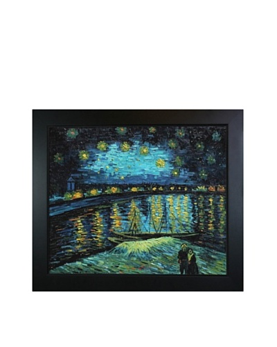 Vincent Van Gogh Starry Night Over The Rhones Framed Oil Painting
