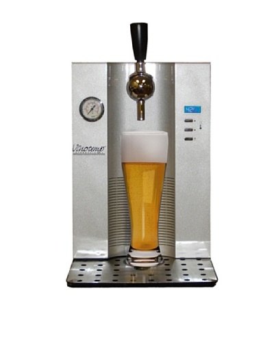 Vinotemp 5-Liter CO2-Powered Tabletop Beer Dispenser, Silver
