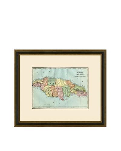 Antique Lithographic Map of Jamaica, 1883-1903