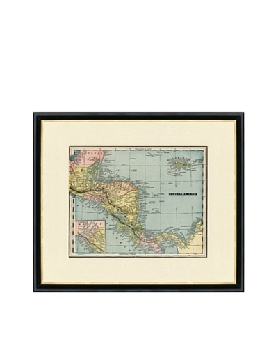 Vintage Print Gallery Antique Central America Map, 1892-1895