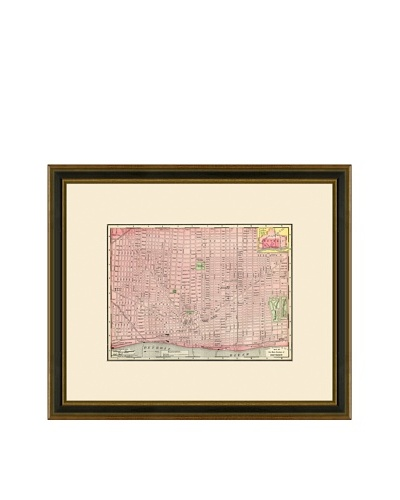 Antique Lithographic Map of Detroit, 1886-1899