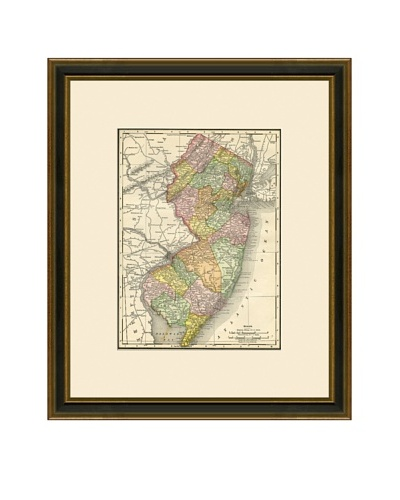Antique Lithographic Map of New Jersey, 1886-1899
