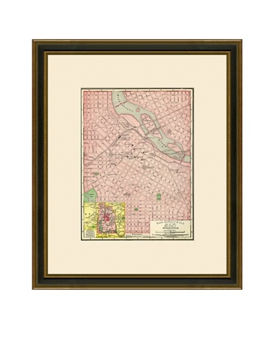 Antique Lithographic Map of Minneapolis, 1886-1899