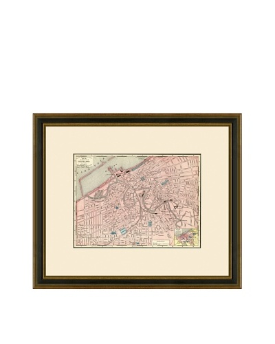 Antique Lithographic Map of Cleveland, 1886-1899