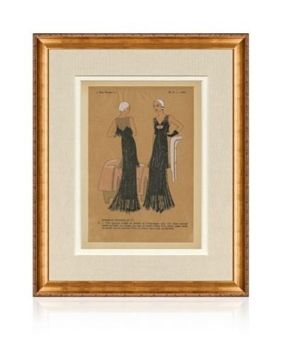 "1931 Pochoir Fashion Print 6-3, 17"" x 14"""