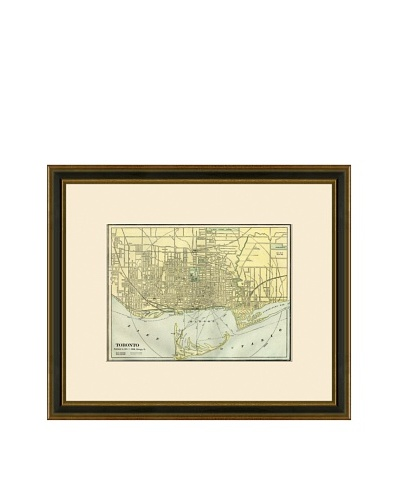 Antique Lithographic Map of Toronto, 1883-1903