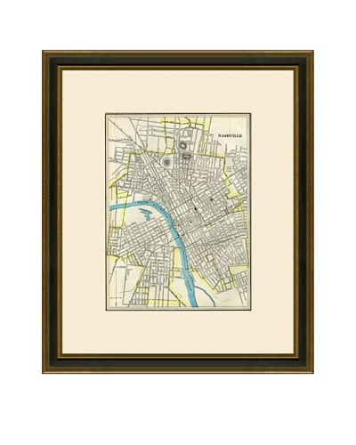 Antique Lithographic Map of Nashville, 1883-1903