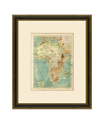 Antique Lithographic Map of Africa, 1894-1904