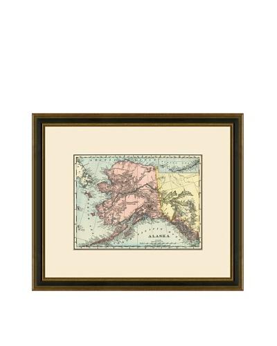 Antique Lithographic Map of Alaska, 1886-1899