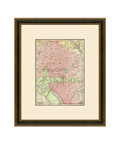 Antique Lithographic Map of Washington DC, 1886-1899