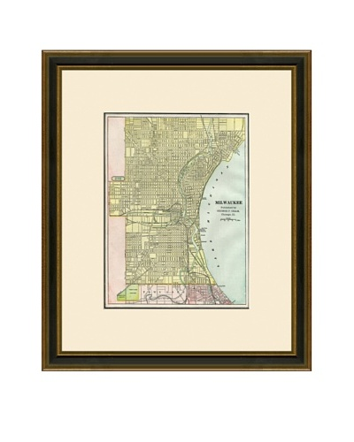 Antique Lithographic Map of Milwaukee, 1883-1903