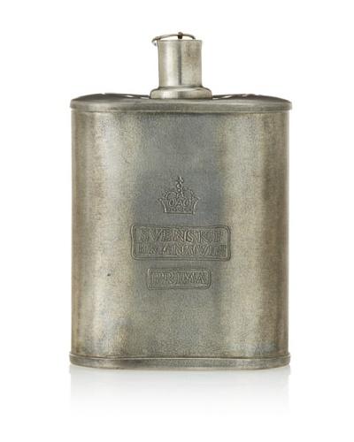 Vintage Tin Flask, c. 1940s
