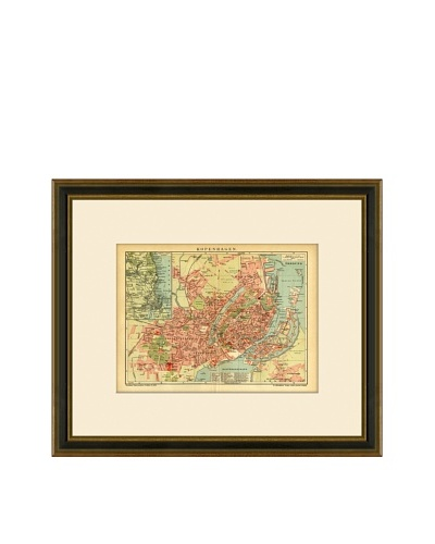Antique Lithographic Map of Copenhagen, 1894-1904