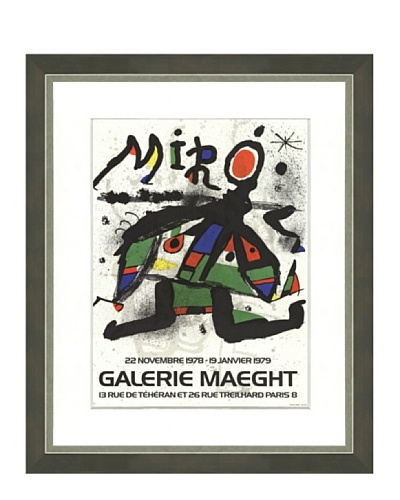 Joan Miró: Exposition Gallerie Maeght, 1978