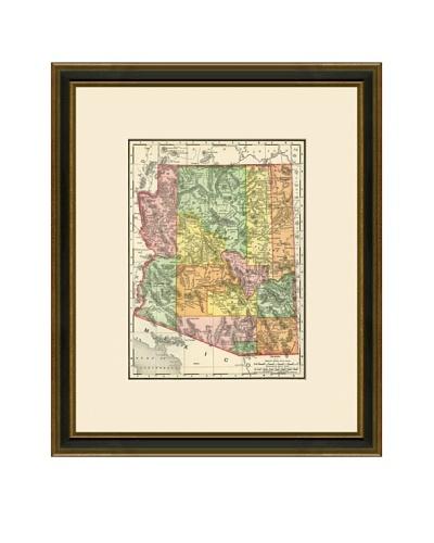 Antique Lithographic Map of Arizona, 1886-1899