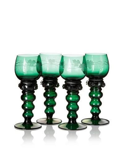 Vintage Set of 4 Roemer Rhein Wine Goblets, c. 1920s