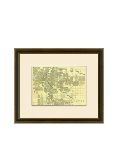 Antique Lithographic Map of Denver, 1883-1903