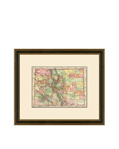 Antique Lithographic Map of Colorado, 1886-1899