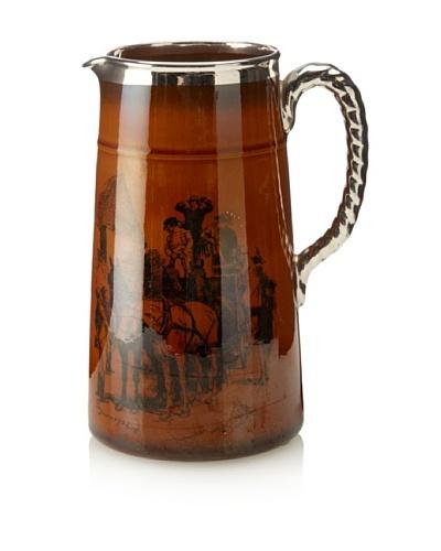 Vintage Ridgeway Brothers Transferware Mug, c. 1920s, Brown/Silver