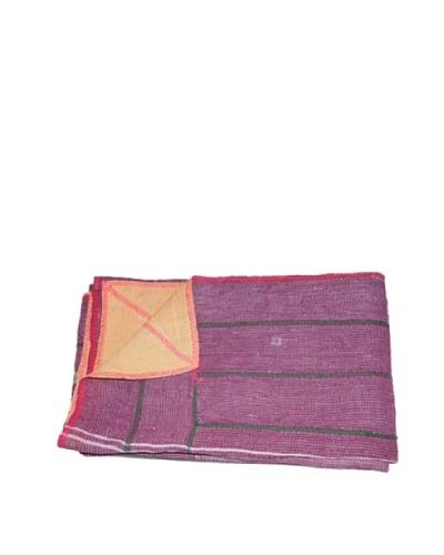 Large Vintage Lavanya Kantha Throw, Multi, 60″ x 90″
