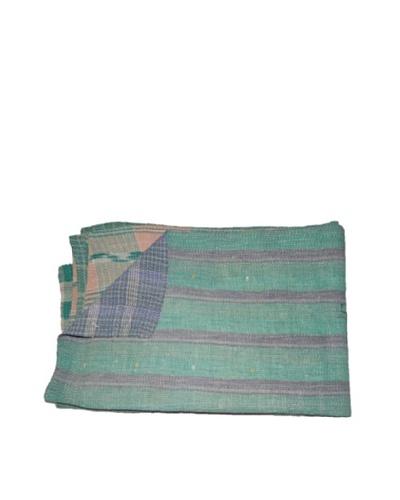 Large Vintage Hema Kantha Throw, Multi, 60″ x 90″