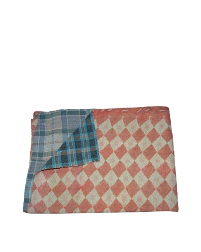 "Large Vintage Lavanya Kantha Throw, Multi, 60"" x 90"""