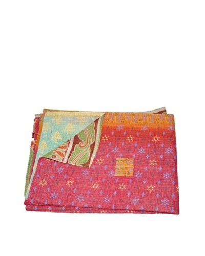 Large Vintage Preeti Kantha Throw, Multi, 60 x 90