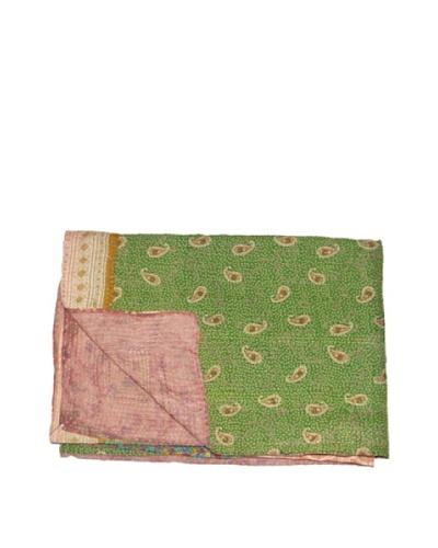Large Vintage Aakaanksha Kantha Throw, Multi, 60 x 90