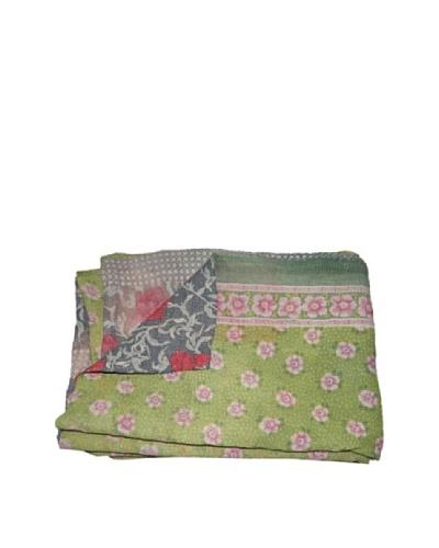 """Large Vintage Hema Kantha Throw, Multi, 60"""" x 90"""""""