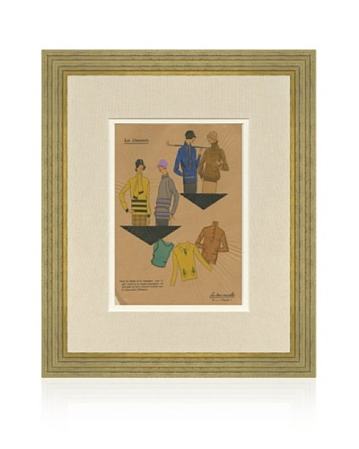 1920's Pochoir Fashion Print 9-5