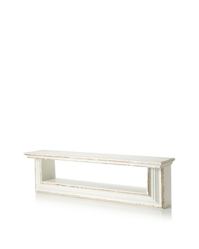 VIP International Wooded Wall Shelf [Aged White]