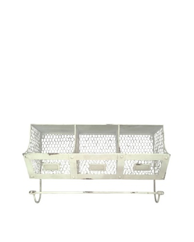VIP International White Metal Bin Shelf