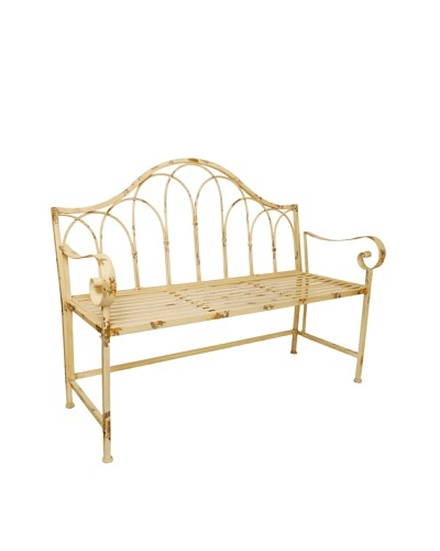 VIP International Metal Garden Bench
