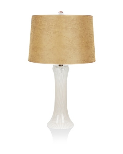 Viz Art Glass Tower Table Lamp [White/Clear]